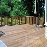 Yellow Balau - timber decking Aylesbury